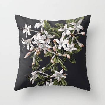 Azalia Throw Pillow by Wild Strawberries