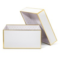 Sugar Paper White and Gold Gift Box - Small