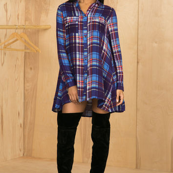 Multi Color Plaid Dress