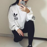 Adidas Women Fashion Top Sweater Pullover Sweatshirt Tagre™