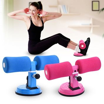 Strong Suction Women Men Sit Up Exerciser Home Fitness Crunches Arm Waist Abdomen Exercise Equipment Fat Burning Trainer