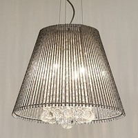 Chandelier With Metal Tube Shade