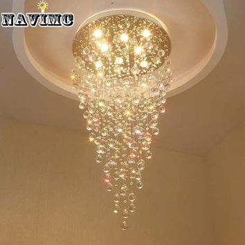 K9 led Crystal Chandelier Light Fixture Modern Lamp for Living Room Bedroom Hotel Hallway Indoor Decoration Stair Ceiling Lamp