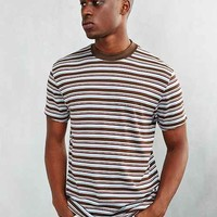 CPO Stripe Ribbed Mock-Neck Tee