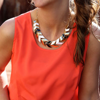 Have It Your Way Necklace {Black/White/Gold}