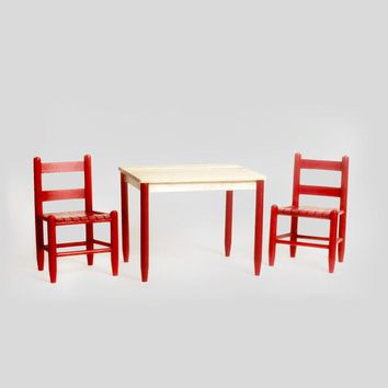 Dixie Seating Co. Asheville Wood Childs 3pc Table Set - Ships within  2 to 4 Weeks