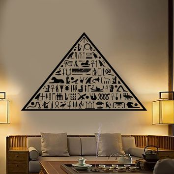 Vinyl Wall Decal Ancient Egypt Egyptian Pyramid Hieroglyphs Stickers Unique Gift (1924ig)