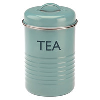"Summerhouse ""Tea"" Canister, Blue, Food Storage Containers"