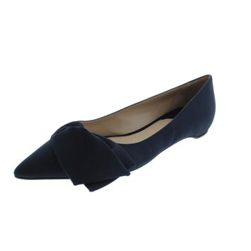 Paul Andrew Womens Corsage Silk Bow Ballet Flats