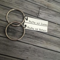 Set Of You're My Person Keychains Great Couples Gift Or Best Friends Gift  Anniversary Gift