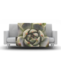 "Debbra Obertanec ""Desert Succulent"" Green Fleece Throw Blanket"