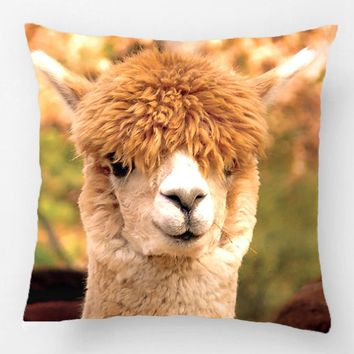 Alpaca Pillow Belle Wedding Decorative Cushion Cover Pillow Case Customize Gift High-Quility By Lvsure For Sofa Seat Pillowcase