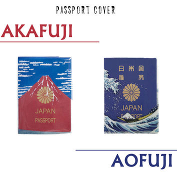 DETAIL Akafuji PASSPORT COVER (passport cover Passport case passport holder Red Fuji)
