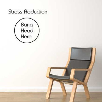 Stress reduction funny novelty office wall by 60SecondMakeover