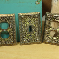 Cherub Lattice Light Switch Outlet Covers 1930s