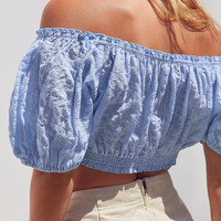 Kimchi Blue Bee Bee Off-The-Shoulder Blouse | Urban Outfitters