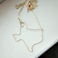 Custom State Necklace - Personalized Necklace - Choose State and Metal Finish