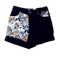 GroupsOfCats high waisted shorts size 0, 028