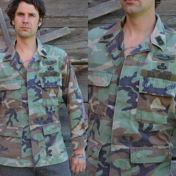 Vintage Us Army Camouflage Field Jacket