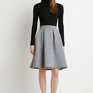 Heathered A-Line Skirt