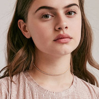 Cami Delicate Rhinestone Choker Necklace - Urban Outfitters