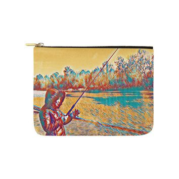 Levi Thang Fishing Design 4 Carry-All Pouch 8''x 6''