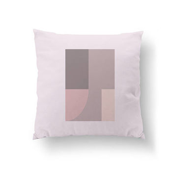 Textured Pillow, Cushion Cover, Throw Pillow, Home Decor, Pink Gray, Rectangles Pillow, Decorative Pillow, Simple Art, Minimal Pattern