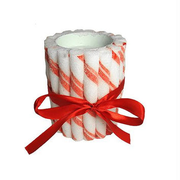 Tealight Candle Holder - Constructed Of Artificial Peppermint Candy