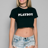 Playboy Basics Crop Tee