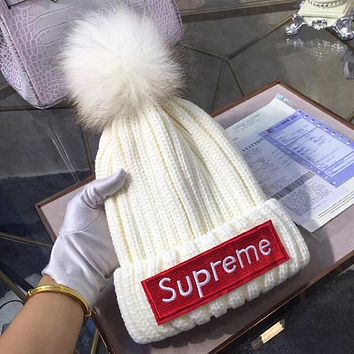 Supreme Woman Men Fashion Beanies Knit Winter Hat Cap