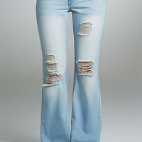 Revolt Destructed Flare Jean