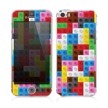 The Neon Colored Building Blocks Skin for the Apple iPhone 5s
