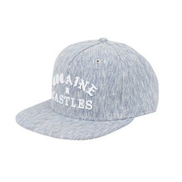 Mens Woven Snapback Cocaine Castles In Heather Navy