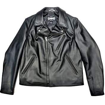 Schott Men's Cowhide Leather Biker Jacket