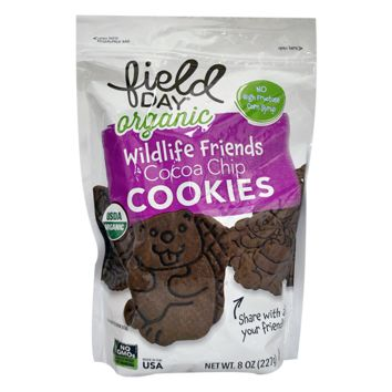 Field Day Organic Wildlife Friends Cocoa Chip Cookies - 8 oz each - Case of 6