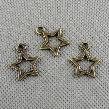 4x Making Jewellery Supply Pendant Pendentif Collier Jewelry Findings Charms Schmuckteile Charme 4-A3209 Five-pointed Star