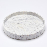 big round marble tray