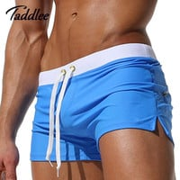 Sexy Men Swimwear Boxer Trunks Brand High Quality Swimsuits Mens Swim Boxer Shorts Surf Board Shorts Plus Size Swimming Wear