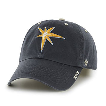 MLB Tampa Bay Rays Ice '47 Clean Up Adjustable Hat, Navy, One Size,Navy