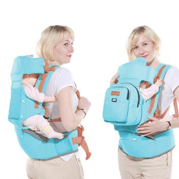 Toddler Backpack class Baby Carrier 10 In 1 Multifunction  Sling Kids Hip Seat Newborns Kangaroo Hipseat With Diaper Bag Loading 20kg AT_50_3