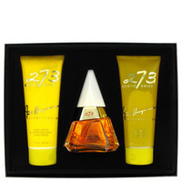 273 by Fred Hayman Gift Set -- 2.5 oz Eau De Purfum Spray + 6.7 oz Body Lotion + 6.7 oz Shower Gel + Mirror (Women)