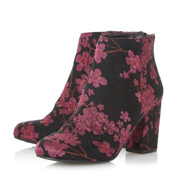 Head Over Heels by Dune Multicoloured 'Orlina' floral jacquard ankle boots