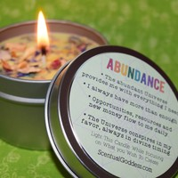 ABUNDANCE Candle - Set Your Intentions to Receive Resources & Opportunities for Your Best Life
