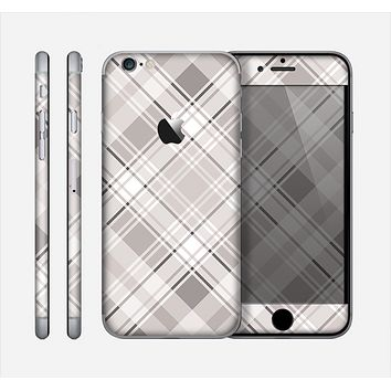 The Gray & White Plaid Layered Pattern V5 Skin for the Apple iPhone 6