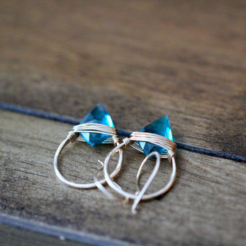 Albatross Earrings - Teal