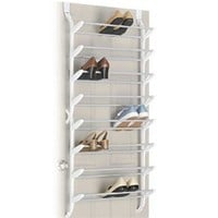 24 Pair Shoe Rack (non-slip) Over the Door - cheap closet organizer for shoes shoe storage closet shoe organizer hanging shoe organizer dorm room organizer and college essential
