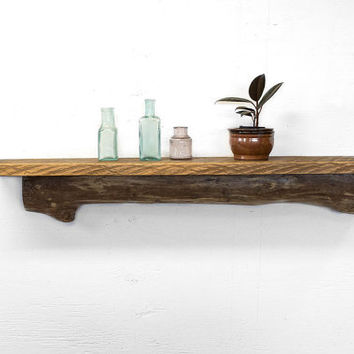 Driftwood Shelf - Reclaimed Wood Shelf - Rustic Shelf - Driftwood Beach Decor - Nautical Decor - Small Wood Shelf - Reclaimed Wood Furniture