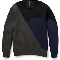 Neil Barrett Colour-Block Bonded-Jersey Sweatshirt | MR PORTER
