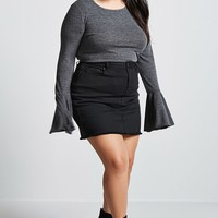 Plus Size Marled Top
