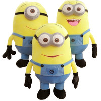 Despicable me 12'' 3D Eyes Plush Toy 25cm/50cm  Minions Stuffed Jorge Stewart Dave minion toy stuffed doll Smile 96413/16